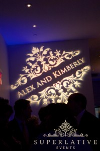 W Hotel Wedding Monogram Gobo Light