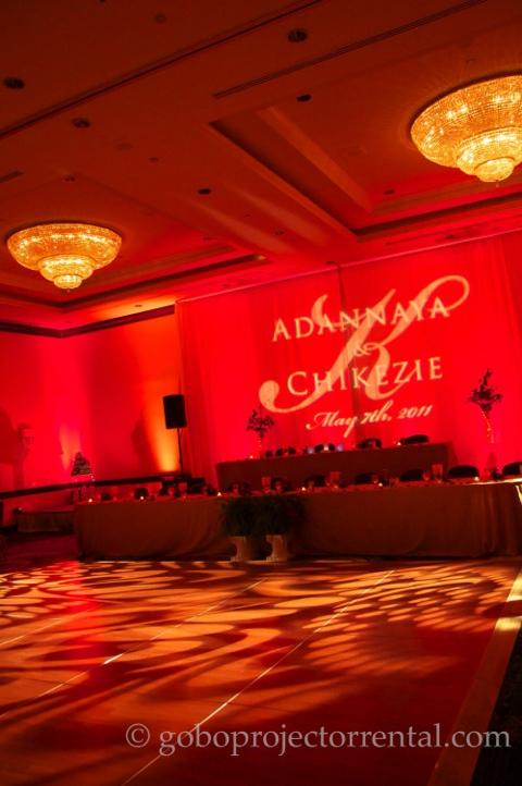 marriott greenbelt maryland red uplighting monogram texture lighting ballroom