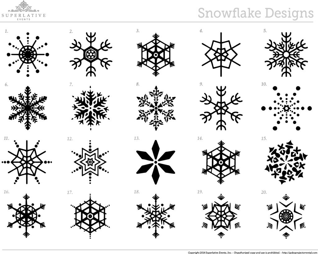 snowflake gobo designs