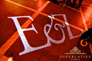 DIY wedding lighting monogram rental