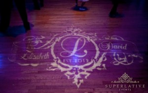 dance floor wedding monogram