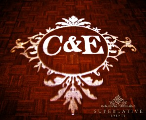 wedding monogram rental transparency
