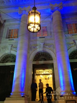wireless uplights dar constitution hall wedding