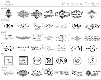 wedding monogram designs