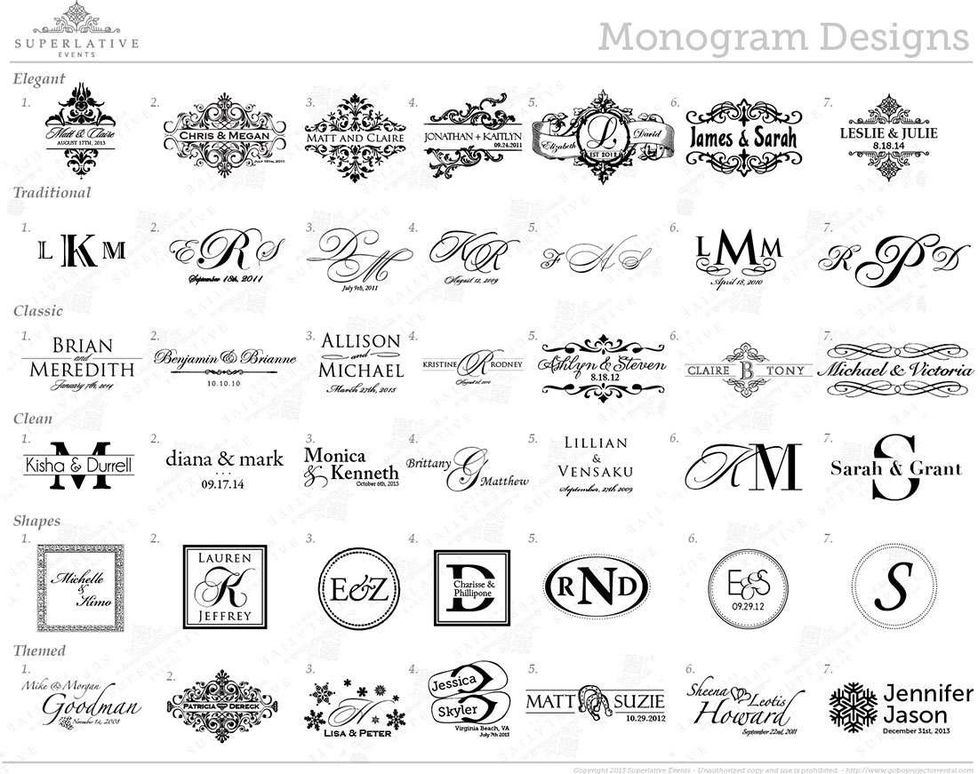 Design Your Wedding Monogram Today