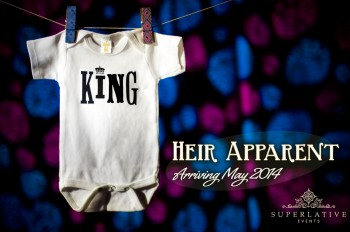 king birth announcement crown onesie