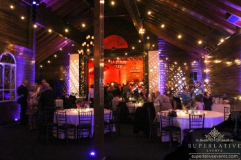 mount ida farm wedding reception lighting