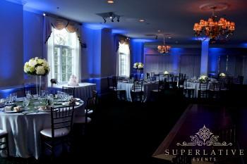 Light Blue Uplighting at Evergreen Country Club in Haymarket, Virginia