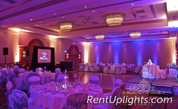 two toned wireless uplighting blue and amber