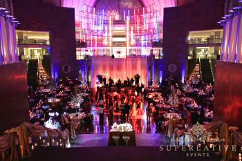 reagan building wedding lighting oculus