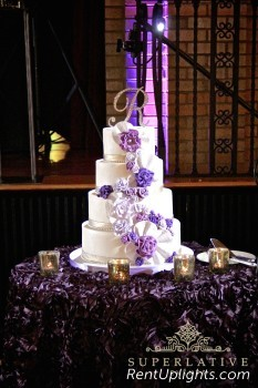 cake spotlight package for a wedding