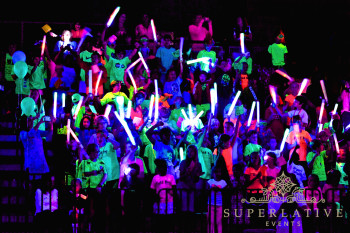Glow pep rally high school easy blacklight