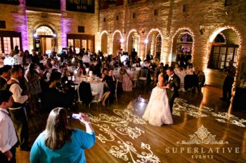 dance floor texture lighting wedding