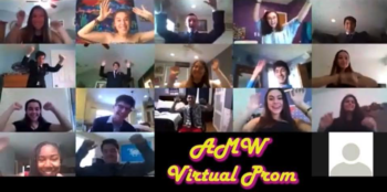 virtual prom video screen
